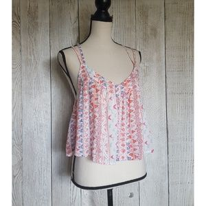 Hollister Tribal Print Tiered Strappy Tank Top